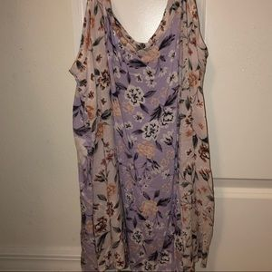 Pink and Purple Floral Camisole